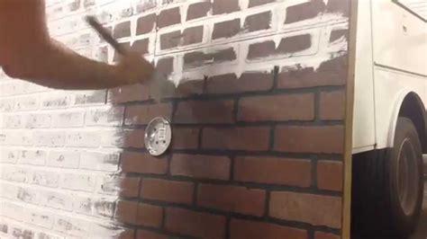 Whitewashing faux brick.   YouTube