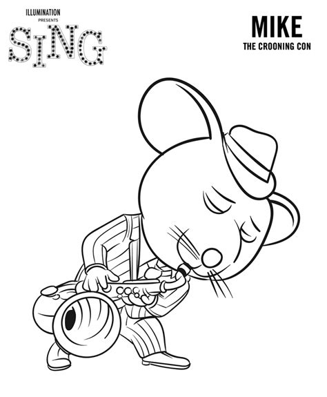Sing Coloring Pages Best Coloring Pages For Kids Singing Coloring Pages