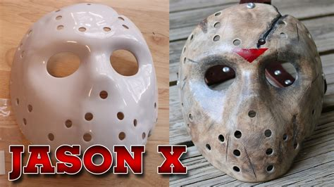 How To Make A Jason Mask Out Of Paper - painting and weathering a jason x friday the 13th hockey