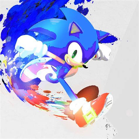 sonic painting saturated paint sonic the hedgehog by neonstarmars on