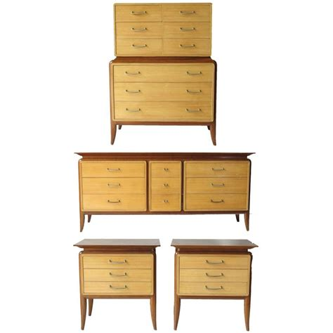 mid century bedroom set mid century bedroom set five pieces at 1stdibs
