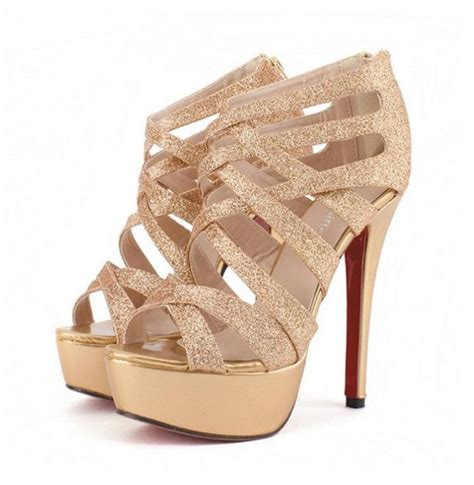 Heels D G 653 7 gold strappy sandals metallic gold strappy heels