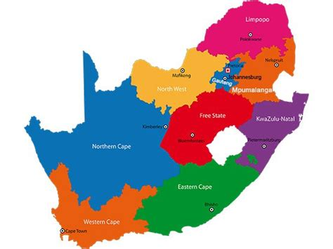 Outline Map Of South Africa With Major Cities by South Africa Map Blank Political South Africa Map With Cities