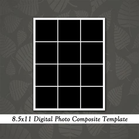 card 8 5x11 templates 8 5x11 photo template collage design by loveurstyledesigns