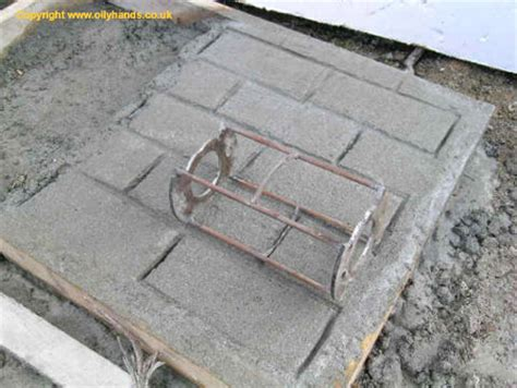pattern roller for concrete diggers dumpers plant concrete pattern roller
