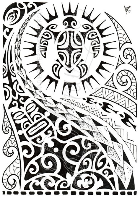 polynesian half sleeve 02 by dfmurcia on deviantart