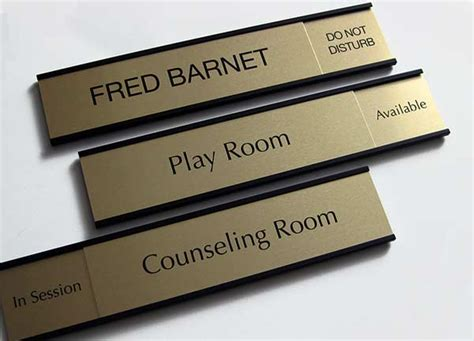 silver name plates silver bankers signs custom metal