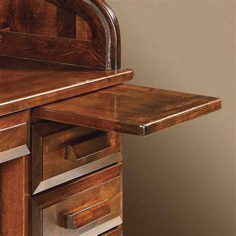 desk with pull out writing surface educators handmade roll top desk countryside amish furniture