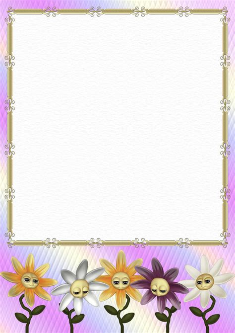 A4 Floral Stationery Papers Page 1 Floral Stationery Template