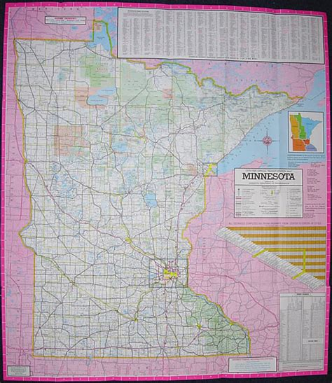Route Drawer Map by 1979 80 Official Highway Map Minnesota