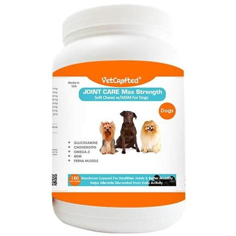 msm for dogs vetcrafted joint care max strength soft chews with msm for dogs 180 ct vetdepot