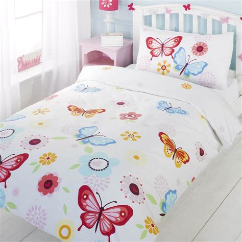 butterfly cot bedding sets butterfly white junior toddler duvet cover and pillowcase