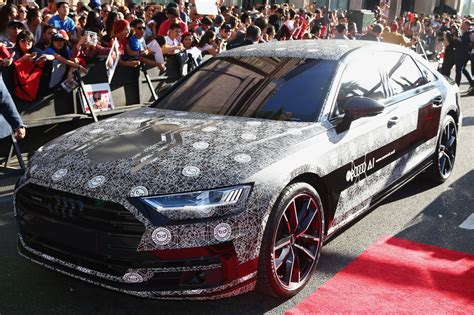 Audi A8 Spider by 2018 Audi A8 Shows Up At Spider Man Homecoming Premiere