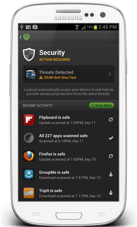 lookout for android lookout mobile security digital security