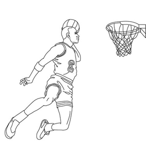 Nba Players Coloring Pages basketball player coloring pages printable
