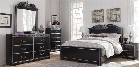 black panel bedroom set navoni black panel bedroom set from ashley b301 54 57 96