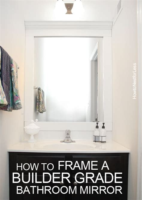 frame my bathroom mirror how to frame a bathroom mirror diy your home
