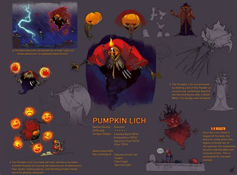 Clever Pumpkin by Terraria Boss Pumpkin Lich By Endling On Deviantart