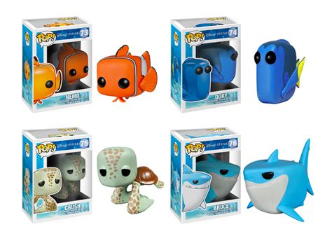 Funko Pop Nemo Finding Nemo funko pop 2014 disney finding nemo bruce crush dory all 4 sealed figure in stock ebay