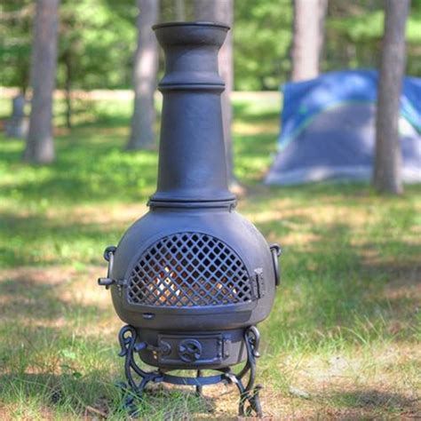 Chiminea Aluminum Cast The Blue Rooster Gatsby Style Cast Aluminum Chiminea