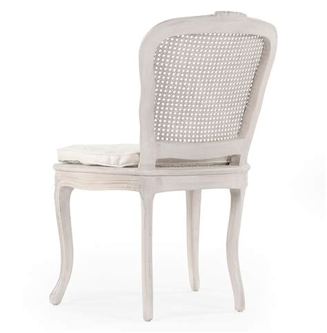 caned  french country annette dining chair antique white
