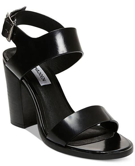 Steve Madden Heeled Sandals by Lyst Steve Madden S Blaair Block Heel Sandals In Black