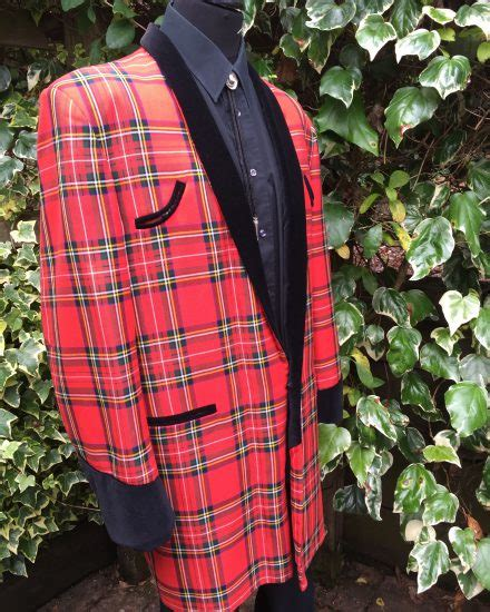 teddy boy drape jacket pattern masquerade red tartan teddy boy drape suit masquerade