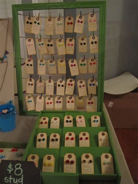 how to make earring display cards preparing for my craft show lazy owl boutique