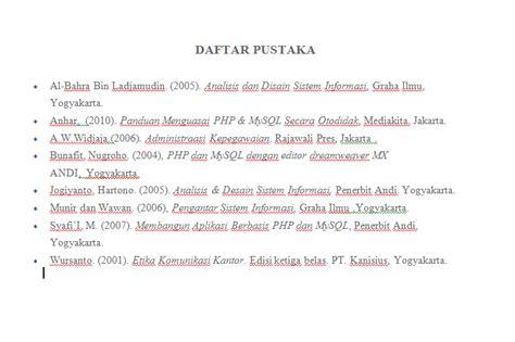 penulisan daftar pustaka nama 4 suku kata mahendra gunadarma aturan penulisan abstrak dan daftar