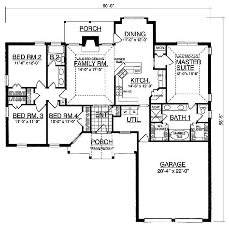 split bedroom house plan 7431rd 1st floor master suite