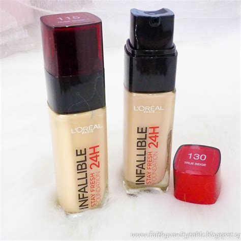 Harga Loreal Foundation Infallible loreal infallible liquid foudation 115 update
