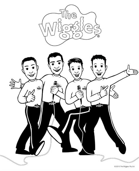 wiggles coloring pages the wiggles coloring coloring pages