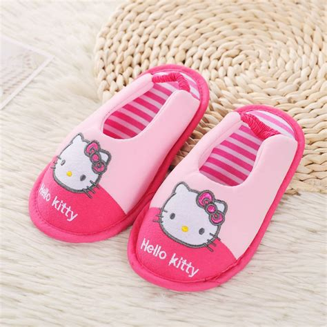 hello kitty girls slippers comfortable cotton soft bottom