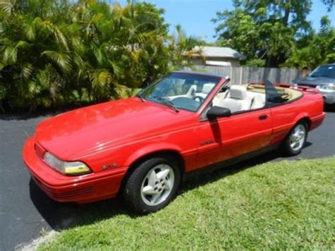 how to sell used cars 1992 pontiac sunbird security system find used convertible red 1992 pontiac sunbird in fort lauderdale florida united states for