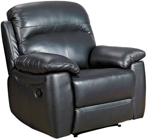 Black Leather Recliner Armchair Buy Furniture Link Aston Black Leather Recliner Armchair