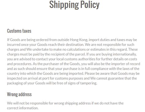 shipping policy template shipping policy templates find word templates