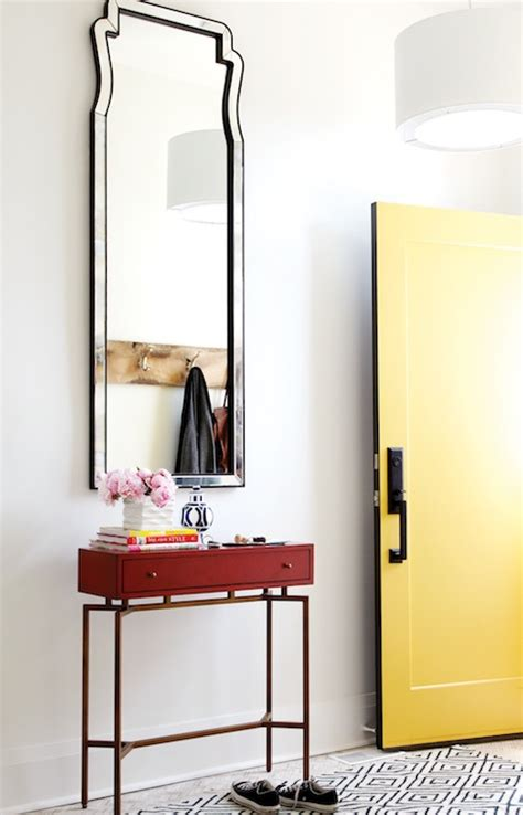 Yellow Foyer by Yellow Front Door Contemporary Entrance Foyer Chatelaine