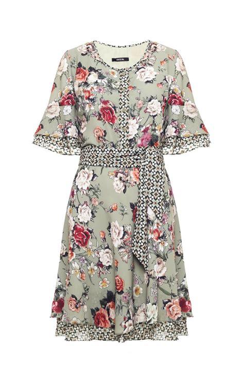 Baju Kemeja Crepe Print Des vestido crepe babado charlize playin print mix vestido curto projetos de