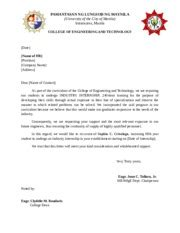 Endorsement Letter For Summer Notice Of Hearing To Client Day Of At