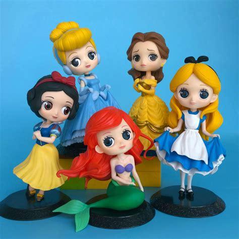 Pretty White 1 Set 5 Item qposket the mermaid ariel snow white figure pretty doll cake topper 5pcs set