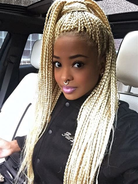 gold on top red on bottom box braids 30 trendy and beautiful long blonde hairstyles