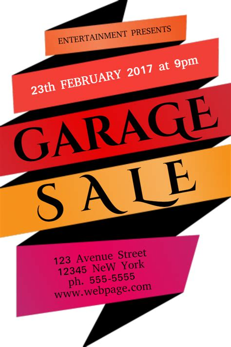 New Flyer Templates For Spring Garage Sales Design Studio Sale Poster Template