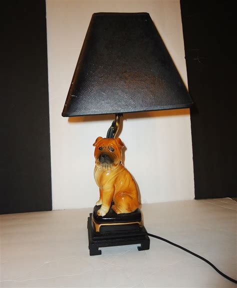 pug desk accessories pug l shar pei black retro shade desk accessory vintage ceramic animal g