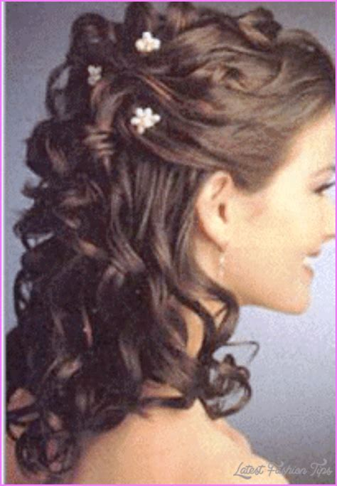 how to do half up half down hairstyles wikihow bridal hairstyles half up medium length