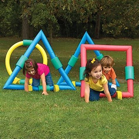 backyard games for toddlers kids obstacle course foam geometric shapes kids outdoor