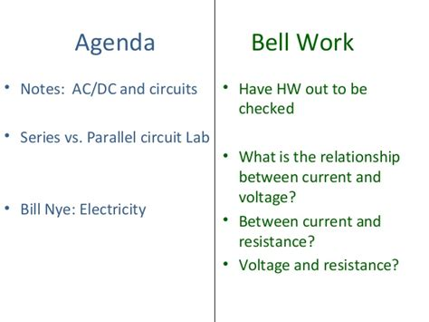 parallel circuits lab ac dc and circuits