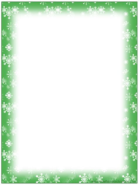 printable snowflakes stationery paper free christmas stationary templates free printable