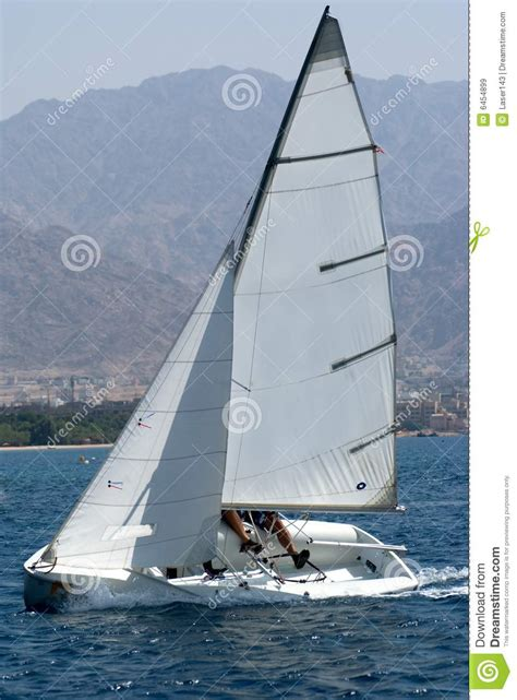 small boat sailing an explanation of the management of small yachts half decked and open sailing boats of various rigs sailing on sea and on river cruising etc classic reprint books small sail boat royalty free stock images image 6454899
