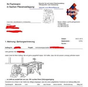 Mahnung Muster Lustig Freundliche Vorlage F 252 R Zahlungserinnerung Fliesen Fieber