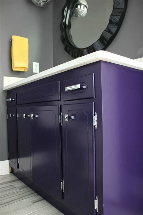 lavender and black bathroom something will always go wrong the hall bathroom remodel